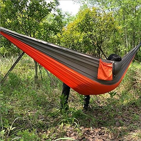Miaoge extérieur Hamac parachute double Camping d'équitation loisirs Chaise hamac 260*140cm, C
