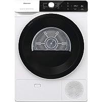 Hisense DHGA901NL Sèche-linge à pompe à chaleur avec ions Tech, 9 kg, A++, panier éclairé, hublot noir, Big Display…
