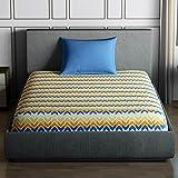 Spaces Core Season's Best Premium 144 TC Cotton Single Bedsheet With Pillow Cover - Blue
