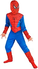 FIZZYTECH Spiderman Costume for Kids Medium (4-6 Yrs) - Blue and Red