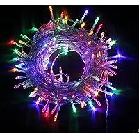 Strisce LED, multicolore,10 Metri, Impermeabile, 100 Singoli LED, Decorativa da Interni e Esterni, Anche per Festa, Giardino, Natale, Halloween, Matrimonio [Classe di efficienza energetica A]