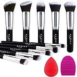 BEAKEY Makeup Brush Set Premium Synthetic Kabuki Foundation Face Powder Blush Eyeshadow Brushes Makeup Brush Kit met Blender