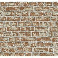 P & S International rojo efecto ladrillo rústico papel pintado diseño de muro de piedra 13474–20