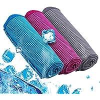 Preisvergleich für EMVANV Kühlendes Handtuch für Sport, komfortabel, saugfähig, eiskaltes Handtuch, sofortige Kühlung, Entlastung ALS Nacken, Stirnband, Bandana, Yoga, Strand, Golf, Reisen, Fitnessstudio, Sport
