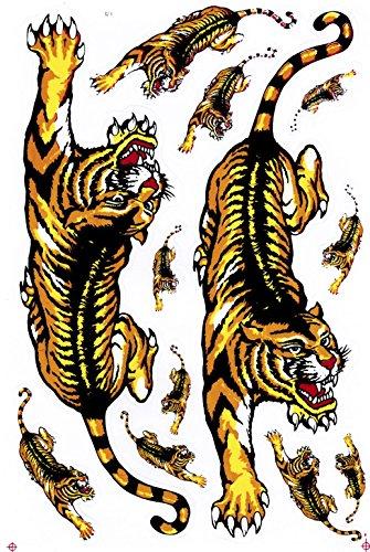 Bienpatch Tiger Aufkleber/Sticker/Aufkleberbogen 12-teilig Tiger Aufkleber