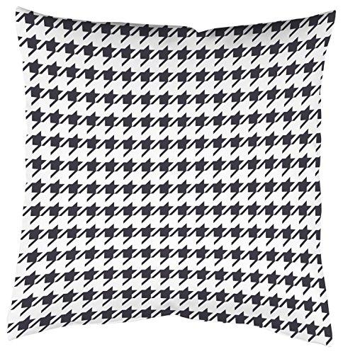 Home Fashion Kissenhülle Digitaldruck, Samt, schwarz-weiß, 1 x 50 x 50 cm