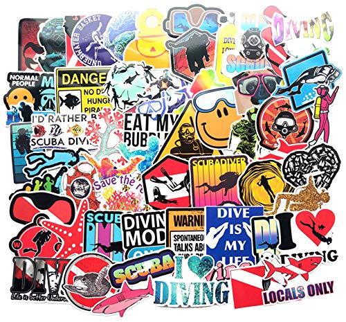 Plongée Extreme Sport Autocollant Coloré pour Bagages Ordinateur Portable Sticker Planche À roulettes Guitare Réfrigérateur Autocollant Jouet pour Enfants Garçons 60 Pcs/Set