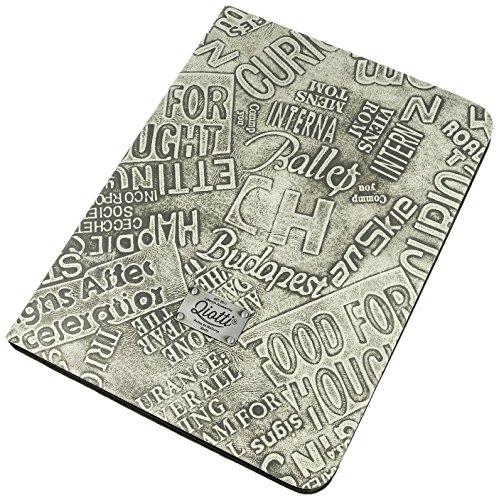 QIOTTI QX-T-0120-02-STS10 Book Slim Case in purem grau für Samsung Galaxy Tab S 10.5 SM-T805
