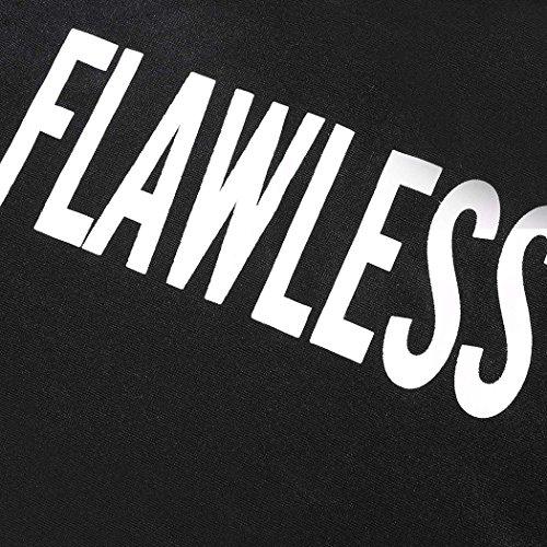 Cravog Femme Mode Court Recadrée Hoodie Imprimer Haut - Casual Sweats Capuche Manche Longues Pullover Sweatshirt Noir