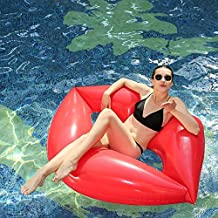 Hinchable colchonetas piscina Playa Flotador - WISHTIME Diversión de verano Labios Rojos Pool Float Inflatable Swim Ring Pool Flotador tubo interior Party ...