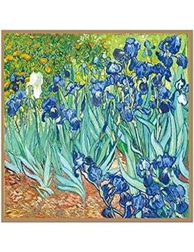 Prettystern - 110cm oversize cuadrado hecho a mano pañuelo de seda - Van Gogh - Selección de patrón de 5