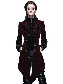 89f8ae1ad0dc90 Devil Fashion Gothic Damen Unregelmäßig Retro Lange Schwalbenschwanz Mantel,  Steampunk Frauen Herbst Winter Samt Jacken