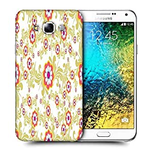 Snoogg White Cream Pattern Printed Protective Phone Back Case Cover ForSamsung Galaxy E7