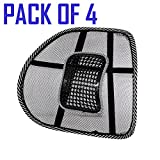 #3: Dazzelon Mesh Ventilation Back Rest with Lumbar Support
