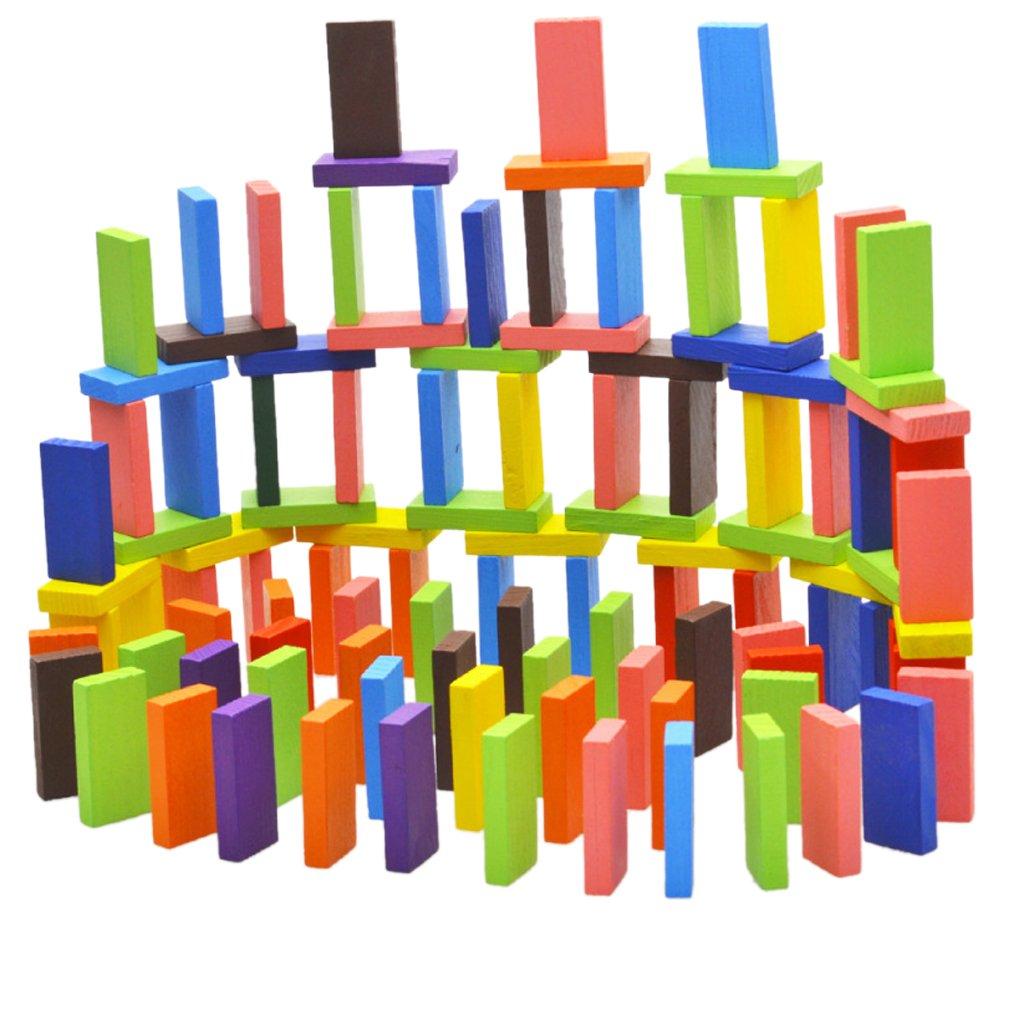120pcs 12colors Set Autentici Bambini In Legno Standard Gioco Di Domino Giocattoli Divertenti