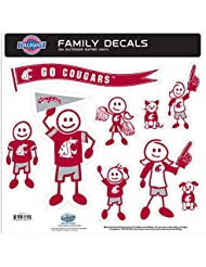 NCAA Washington State Cougars Family Character Decals, Large