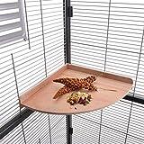 HappyBird Eck - Sitzbrett 28 x 28 cm ideal für den Wellensittich, Nymphensittich & Papagei - Ecksitzbrett XXL für den Käfig und die Voliere auch für Graupapageien, Amazonen und den Kakadu