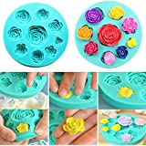 Moldes 3D diseño de rosas de silicona para usar con chocolate, fondant, jabón, vela