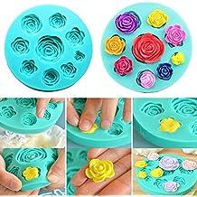 3d diseño de flores de rosas de silicona chocolate fondant cake moldes de jabón vela moldes