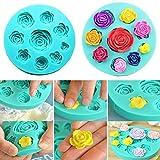 Stampi in silicone rose 3D, formine per cioccolato, zucchero fondente, torte, candele, sapone