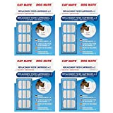 Lot de 4 x 2 cartouches filtrantes de rechange d'origine pour fontaines Cat Mate et Dog Mate