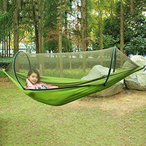Ren Chang Jia Shi Pin Firm Outdoor Fallschirm Tuch Hängematte Rollover Moskitonetz Camping Schaukel (Color : Green 1)
