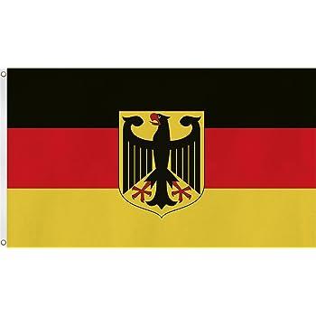 deutschland adler und 16 bundesl nder wappen fahne flagge. Black Bedroom Furniture Sets. Home Design Ideas