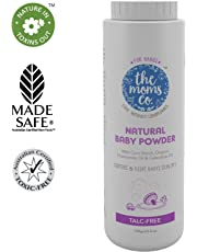 The Moms Co. Talc-Free Natural Baby Powder with Corn Starch | 100% Natural | Australia-Certified Toxin-Free | with Chamomile Oil, Calendula Oil and Organic Jojoba Oil - 100g
