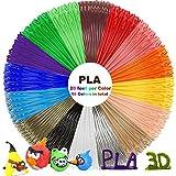 PLA 3D Pen Filament Refills(16 Colors, 20 Feet Each) with 100 Stencils EBooks - Dikale 3D Printing Pen Filament 1.75mm Total 320 Feet for Polaroid, NEXTECH, Soyan, LAPOND, Amzdeal Intelligent 3D Pen image