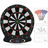 Profi Dartspiel,Elektronisch Dartscheibe Dartautomat Dartboard mit 6 Darts Profi Dartspiel LI 01