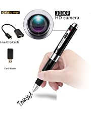Saone Full HD 1080P HD Pen Surveillance Camera with Loop Recording/Plug Play to PC and Mac/OTG Cable