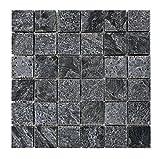 Q-007 Silver Grey Quarzit Naturstein Mosaik Wand und Boden-Belag Bad Design Fliesen Lager Verkauf Herne NRW