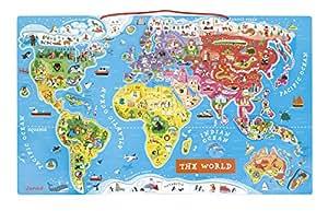 Janod J05504 - Puzzle Il Mondo Magnetico, [Versione Inglese]