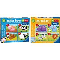 Ravensburger On The Farm, My First Jigsaw Puzzles Toddler Toy for Kids 18 Months and Up & On Safari My First Jigsaw…