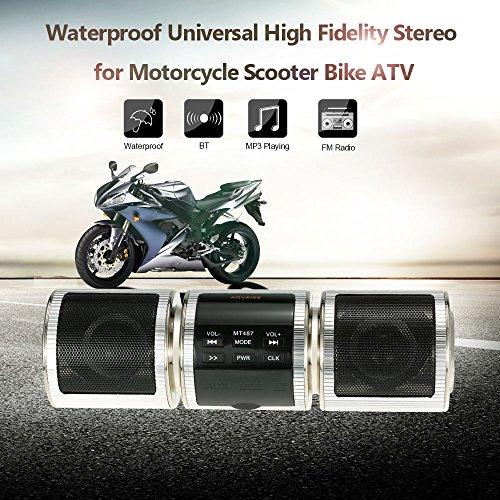 KKmoon Universale ad alta Fedeltà Stereo del Moto, Impermeabile MP3