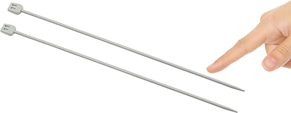 ProjectsforSchool Single Sided Knitting Needle Dia - 3mm, Length - 25 mm, Pair of 2, Aluminium, for Making Woollen Artefacts (No 11)