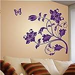 Decals Design StickersKart Wall Stickers Vine Flower (Purple)