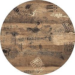 Tischplatte Werzalit Dekor Ex Works 60 cm rund wetterfest Ersatztischplatte Bistrotisch Stehtisch Tisch Gastronomie