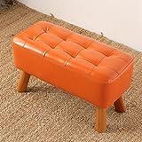 MXD Hocker Change Shoe Bench Bench Einfache Moderne Sofa Hocker Bench Wear Schuhbank Orange