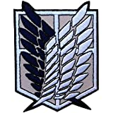 Attack on Titans Emblema Scouting Legion Patch Iron On Parche Bordado Termadhesivo