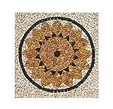 RO-003 90 x 90 cm Marmor Rosone mediterran Einleger Mosaikfliesen Bild Dekoration Stein-Mosaik Fliesen Lager Verkauf Herne NRW