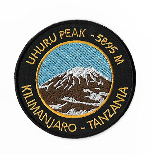 Kilimanjaro Uhuru Peak Tansania Patch 9cm Embroidered Iron on Badge Bergsteigen Klettern Aufnäher Reisen Souvenir DIY Tasche Rucksack T-Shirt Jacke - Patch Tansania