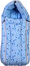 Brim Hugs and Cuddles Blue Printed Baby Bag/Carry Bed/Bed