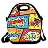 Comic Graffiti Boom Lunch Bag Lunch Tote Lunch Box Handbag For Kids And Adults