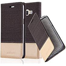 Cadorabo Coque Pour Samsung Galaxy A5 2015 En Anthracite Or Housse Protection Avec Fermoire Magnetique