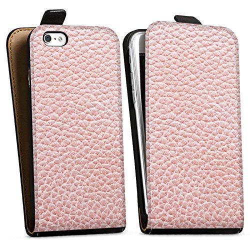 Apple iPhone X Silikon Hülle Case Schutzhülle Leder Muster Struktur Downflip Tasche schwarz