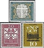 BRD (BR.Deutschland) 329,336,345 (kompl.Ausg.) 1960 Passionsspiele, Bischöfe, Eisenbahn (Briefmarken für Sammler)