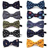 TopTie Polka Dots Bow Tie, Baby Boys Girls Dog Cat Bowties Collar, 10 PCS Assorted-set A