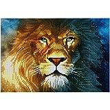 Tomtopp DIY Diamond Painting Butterfly Lion 5D DIY Diamond Cross Stitch Painting (G)
