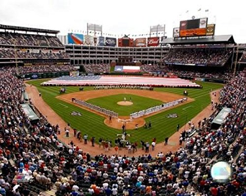 Rangers Ballpark In Arlington (Rangers Ballpark in Arlington 2008 Opening Day; Texas Rangers Photo Print (40,64 x 50,80 cm))
